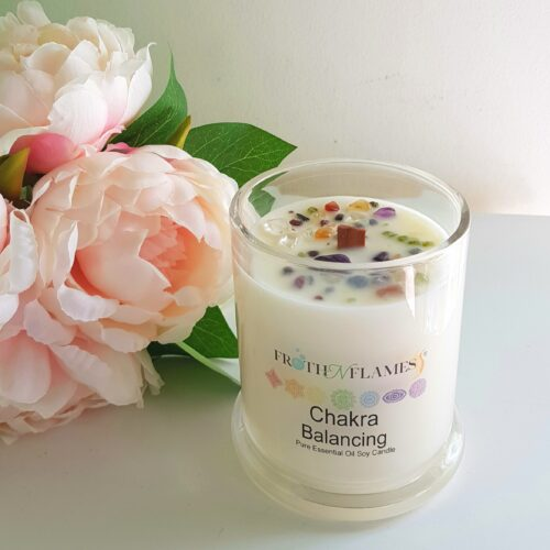 chakra balancing soy candle