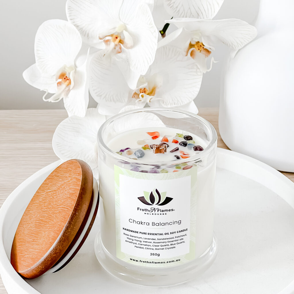 chakra balancing essential oil candle