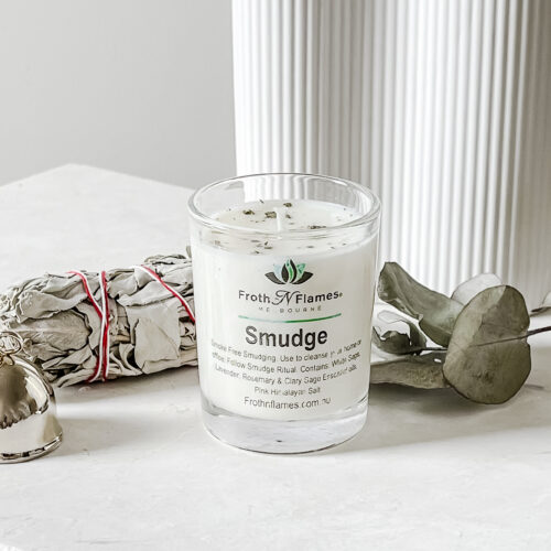 smudge soy candle