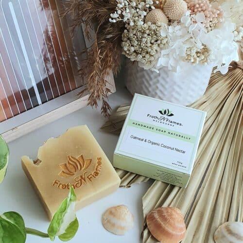 oatmeal & organic coconut nectar handmade soap