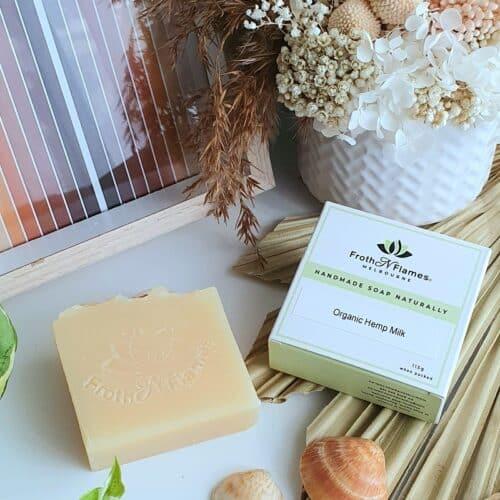 organic hemp milk handmade soap
