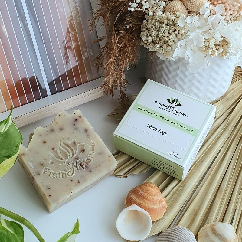 handmade soap white sage