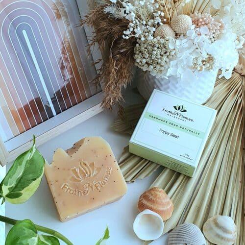 poppy seed handmade soap