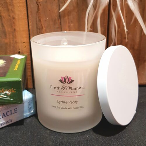 Floral soy candles