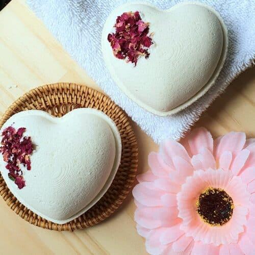 bath bomb heart
