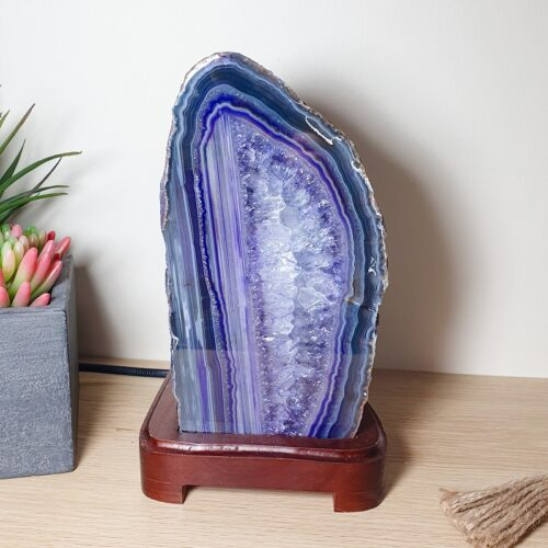 Purple Agate Lamp