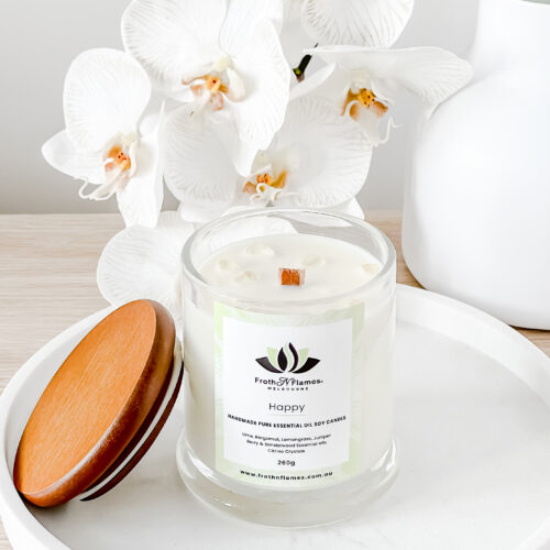 Happy Essential Oil Candle