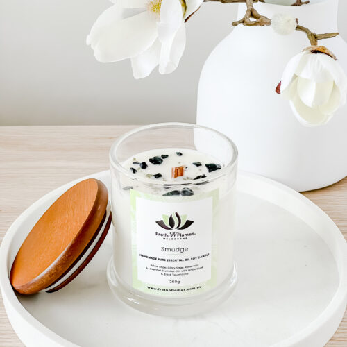 smudge essential oil candle