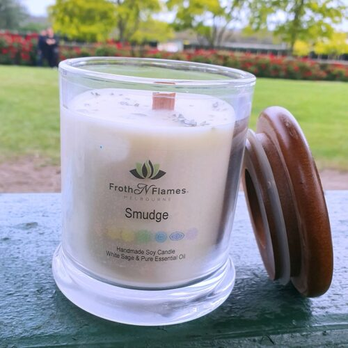 smudge esssential oil candle