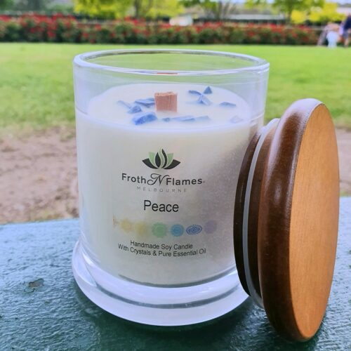 peace essential oil candle