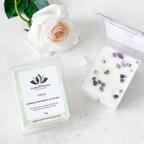 relax essential oil soy melt