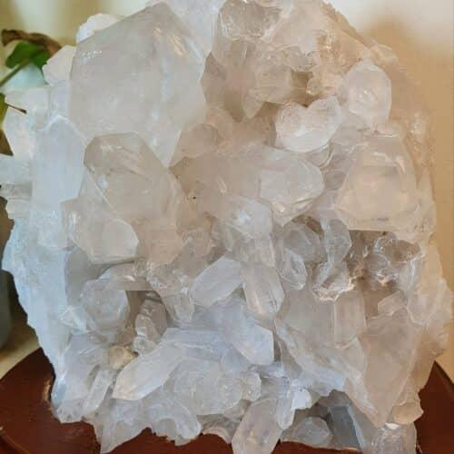 clear quartz cluster lamp
