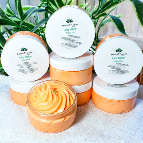 lady million whipped soap