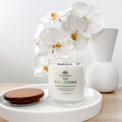 Relax Essential Oil Soy Candle