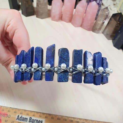 lapis lazuli crystal crown