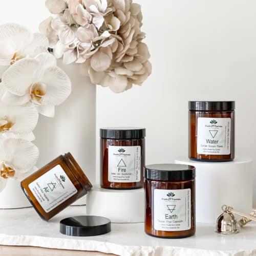 Elemental hemp candle set
