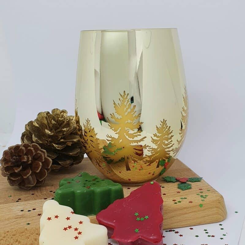 Christmas candle christmas pudding scent
